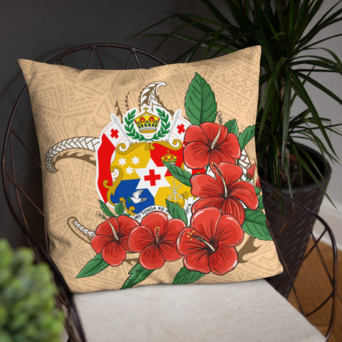 Tonga Polynesian Pillow - Hibiscus Coat of Arm