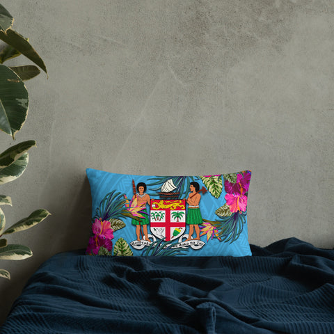 Fiji Polynesian Pillow - Hibiscus Surround