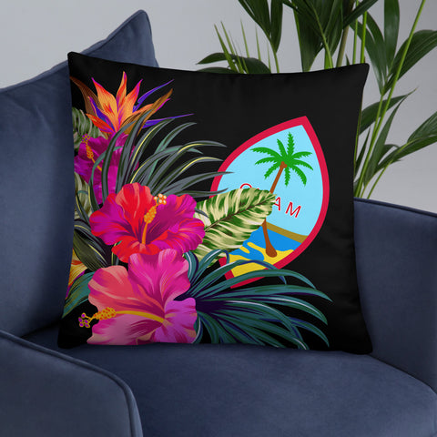 Image of Guam Polynesian Basic Pillow - Tropical Bouquet - BN12