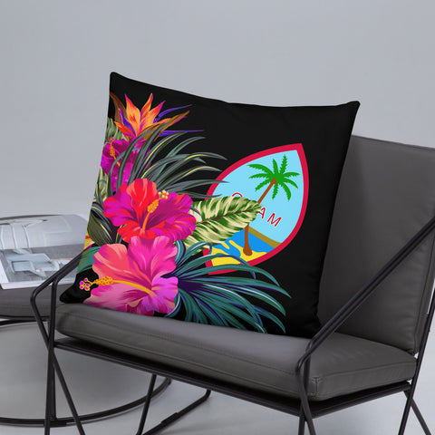 Image of Guam Polynesian Basic Pillow - Tropical Bouquet