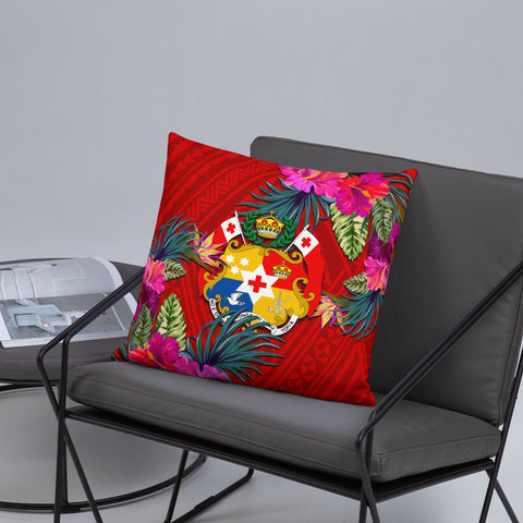 Tonga Polynesian Pillow - Hibiscus Surround - BN39