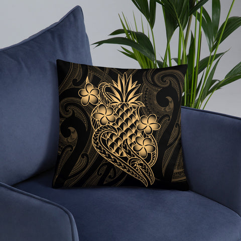 Image of Polynesian Basic Pillow - Gold Pineapple - BN12