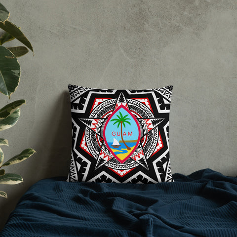 Image of Guam Pillow - Mandala Star Patterns - BN01