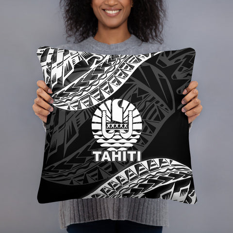 Tahiti Polynesian Pillow - Black Seal - BN39