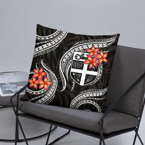 Image of Fiji Melanesian Pillow - White Plumeria