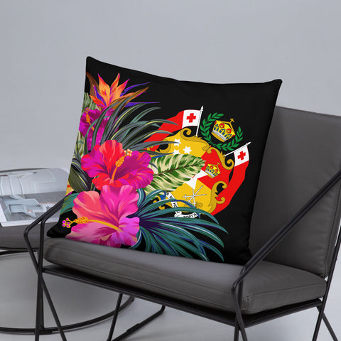 Tonga Polynesian Basic Pillow - Tropical Bouquet