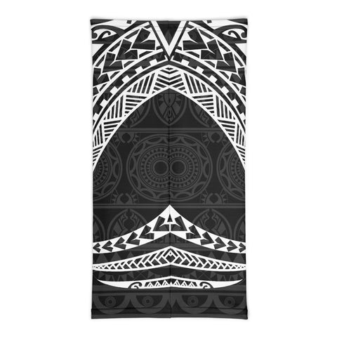 Tonga Polynesian Neck Gaiter - White Tribal Pattern - BN12