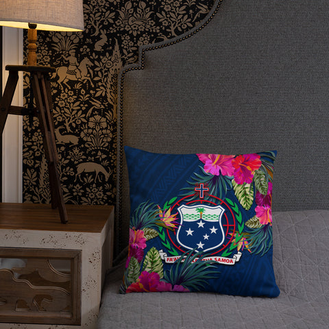 Samoa Polynesian Pillow - Hibiscus Surround - BN39