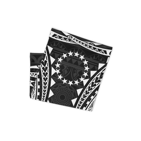 Image of Cook Islands Polynesian Neck Gaiter - White Tribal Pattern - BN12