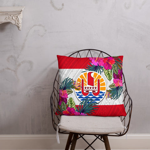 French Polynesia Polynesian Pillow - Hibiscus Surround - BN39