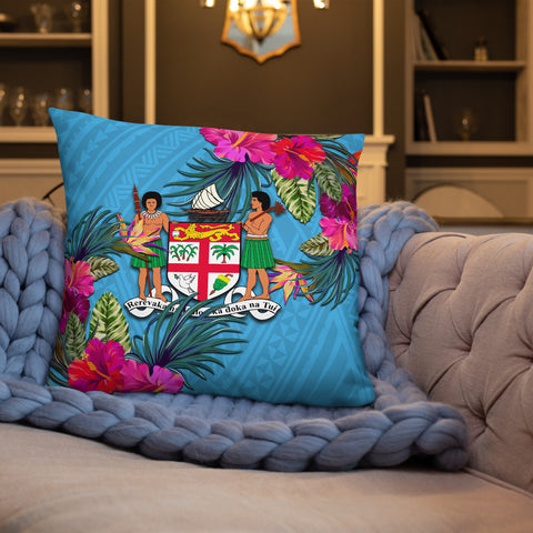 Fiji Polynesian Pillow - Hibiscus Surround - BN39