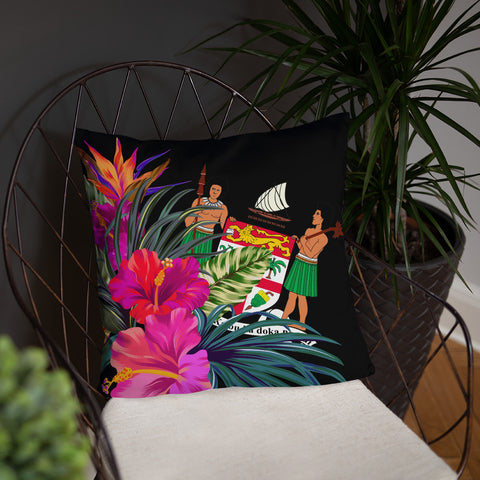 Fiji Melanesia Basic Pillow - Tropical Bouquet - BN12