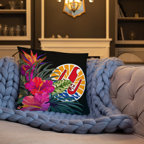 Tahiti Polynesian Basic Pillow - Tropical Bouquet - BN12