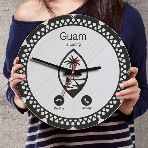 Guam Wooden Wall Clock - Calling Style - BN11