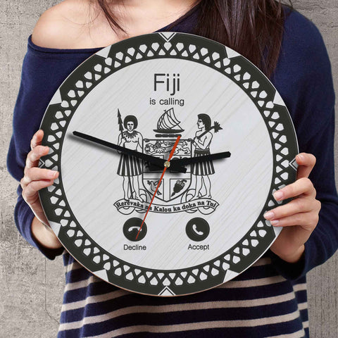 Fiji Wooden Wall Clock - Calling Style - BN11