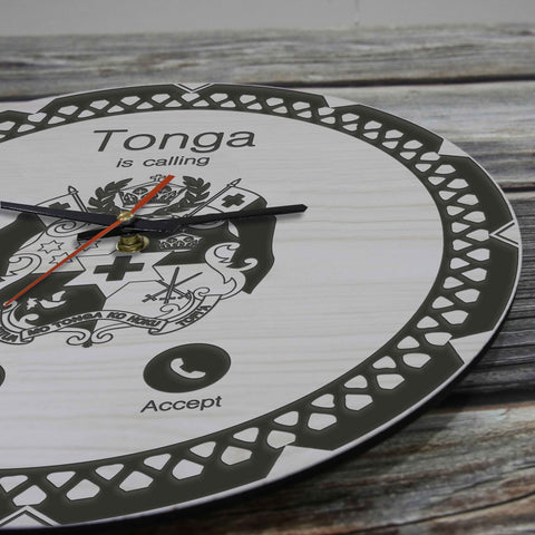 Image of Tonga Wooden Wall Clock - Calling Style - BN11
