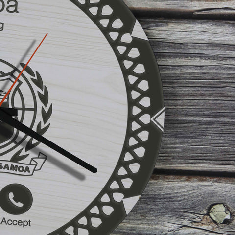 Samoa Wooden Wall Clock - Calling Style - BN11