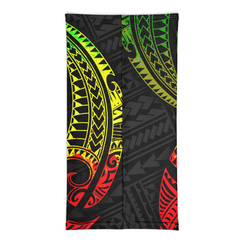 Image of Tahiti Polynesian Neck Gaiter - Reggae Tribal Wave - BN12