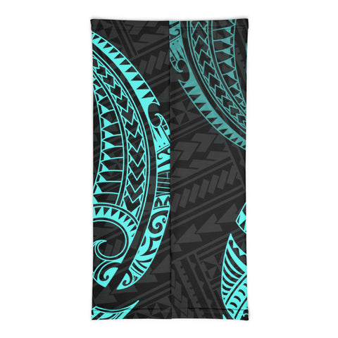 Hawaii Polynesian Neck Gaiter - Blue Tribal Wave - BN12