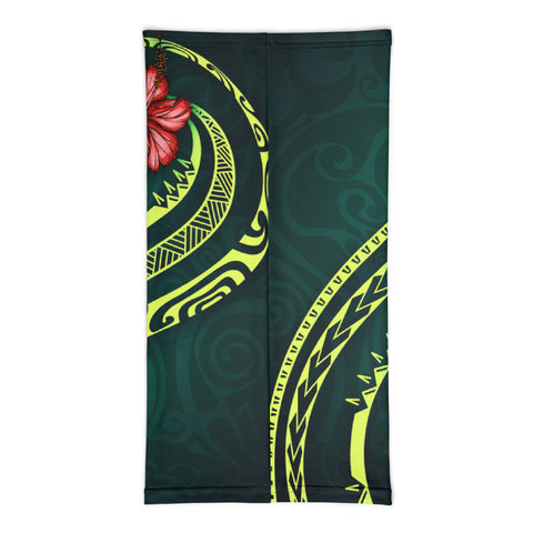 Image of Tahiti Polynesian Neck Gaiter - Hibiscus With Seal - BN12