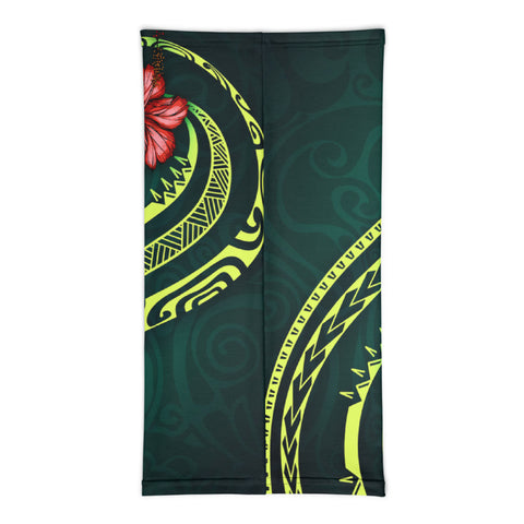 Tonga Polynesian Neck Gaiter - Hibiscus With Seal - BN12