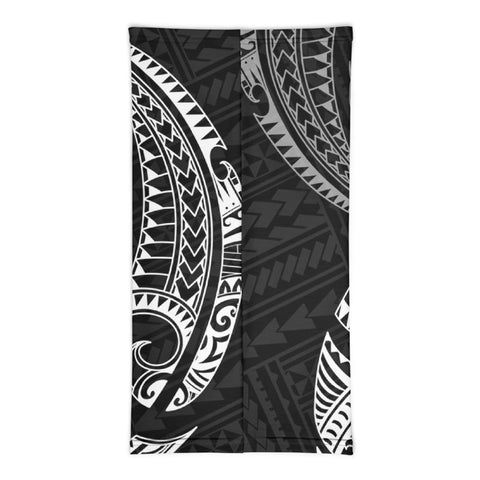 Image of Guam Polynesian Neck Gaiter White Tribal Wave - BN12