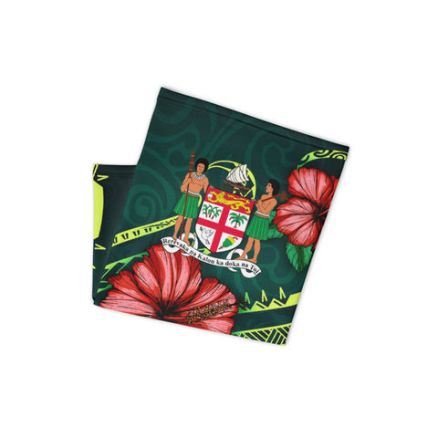 Fiji Melanesia Neck Gaiter - Hibiscus With Seal - BN12