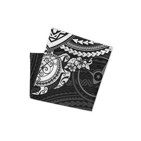 Image of Yap Polynesian Neck Gaiter - White Turtle