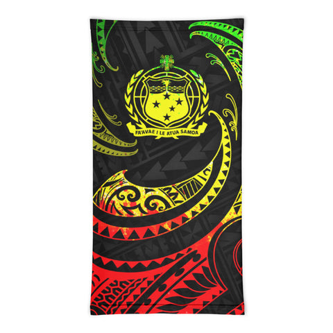 Image of Samoa Polynesian Neck Gaiter - Reggae Tribal Wave - BN12