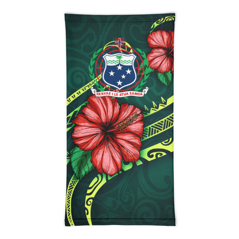 Samoa Polynesian Neck Gaiter - Hibiscus With Seal - BN12