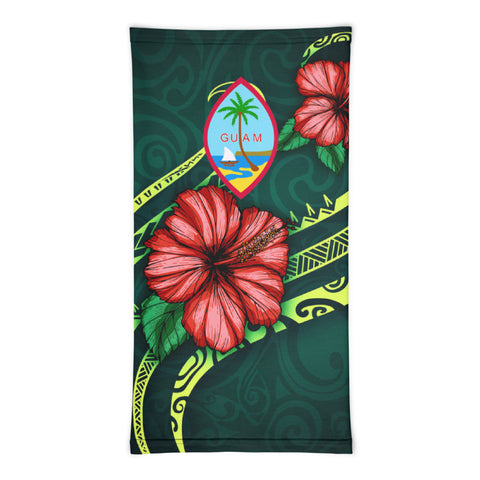 Guam Polynesian Neck Gaiter - Hibiscus With Seal - BN12