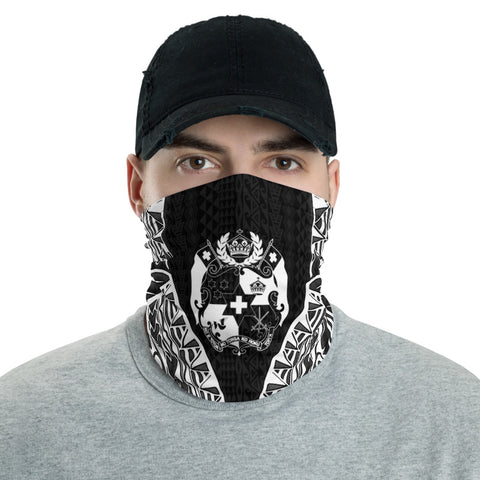 Tonga Neck Gaiter - Polynesian Pattern Black - BN39