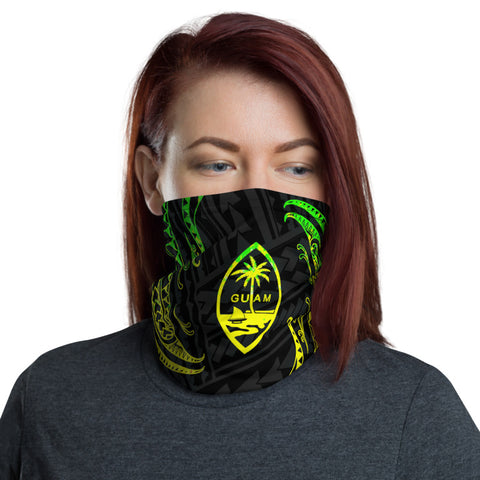 Image of Guam Polynesian Neck Gaiter - Reggae Tribal Wave