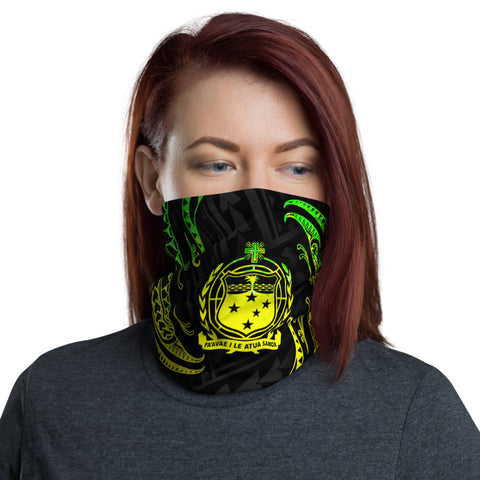Image of Samoa Polynesian Neck Gaiter - Reggae Tribal Wave