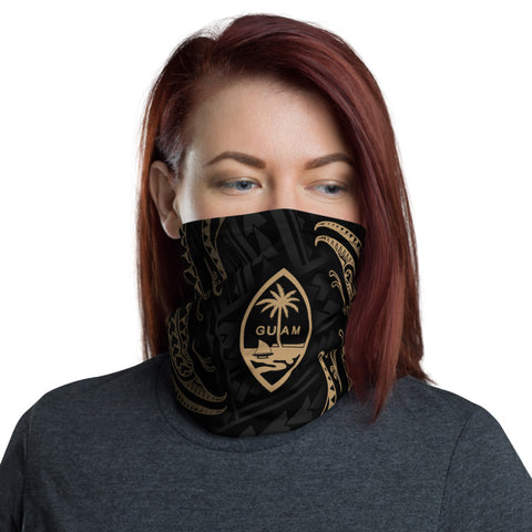 Image of Guam Polynesian Neck Gaiter - Tribal Wave