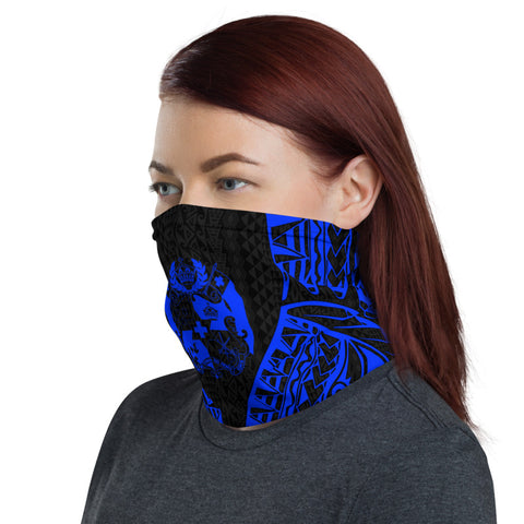 Image of Tonga Neck Gaiter - Polynesian Pattern Blue - BN39