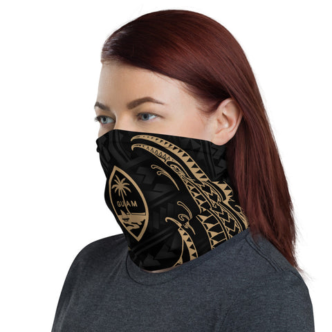 Guam Polynesian Neck Gaiter - Tribal Wave - BN12
