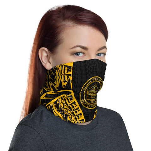 Image of Palau Neck Gaiter - Polynesian Pattern Gold - BN39