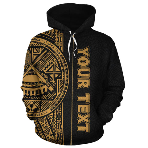 American Samoa Personalised Custom Hoodie, Polynesian, Personalised Custom Zip-Up Hoodie, Polynesian Personalised Custom Zip-Up Hoodie