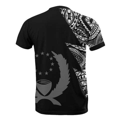 Image of Pohnpei Pattern T-Shirt - Pohnpei Flag Polynesian Tattoo Black Style - BN09