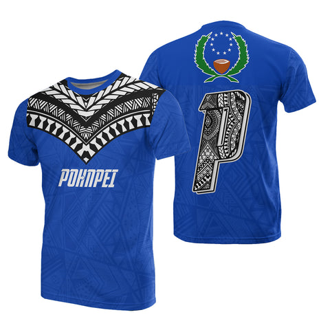 Pohnpei All Over T-Shirt - Micronesia Flag Style - BN09