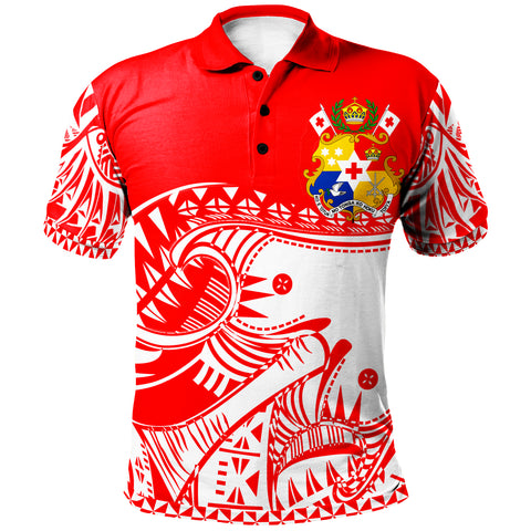 Image of Tonga Custom Personalised Polo Shirt - Youthful Dynamic Style White Color - BN20