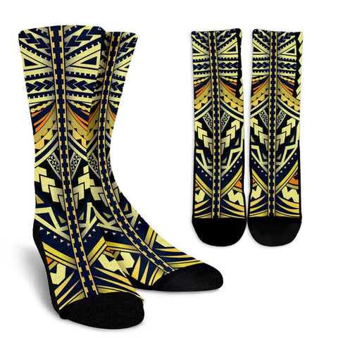Polynesian Tattoo Crew Socks - BN11