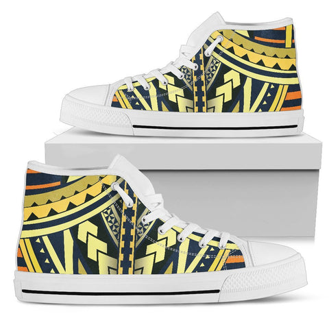 Image of Polynesian Tattoo High Top Shoe - BN11