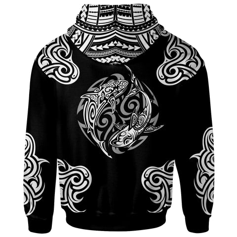 Polynesian Zip-Up Hoodie - Polynesian Shark Tatoo - BN20