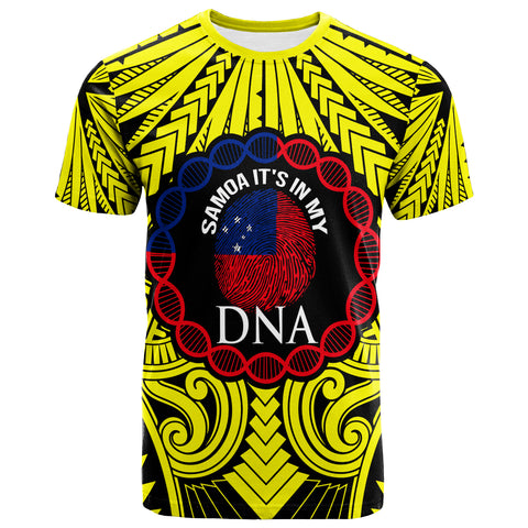 Samoa T-Shirt - It's In My DNA Color Yellow - BN20