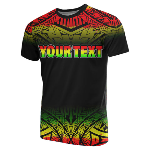 Turtle Custom Personalised T-Shirt - Polynesian Reggae Fog