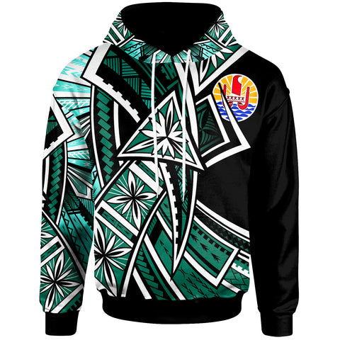 Tahiti Hoodie - Tribal Flower Special Pattern Green Color - BN20