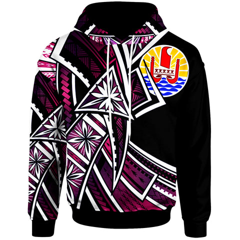 Tahiti Hoodie - Tribal Flower Special Pattern Purple Color - BN20