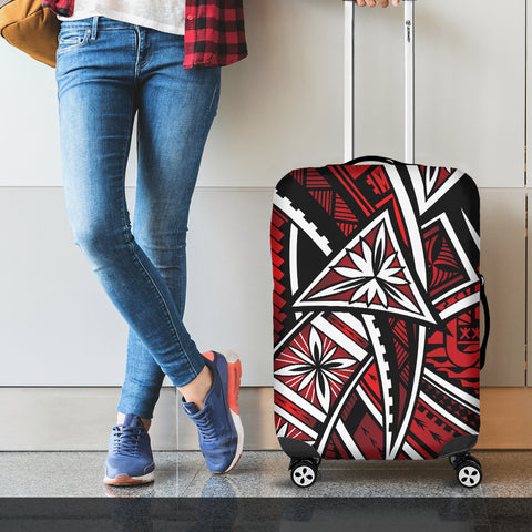 Image of Tahiti Luggage Covers - Tribal Flower Special Pattern Red Color - BN20